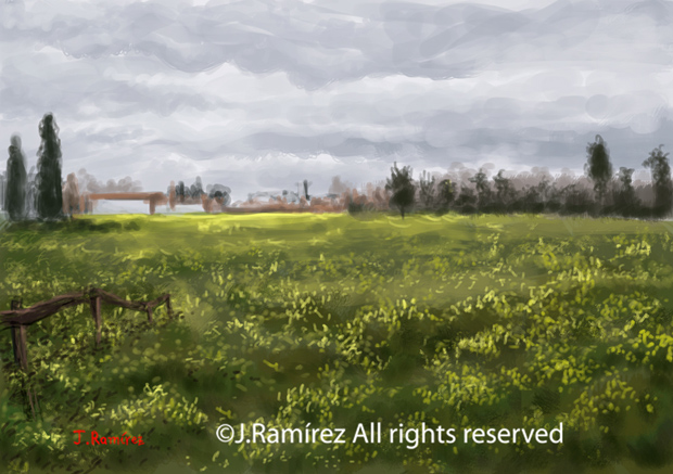 Paisaje primaveral - J. Ramírez